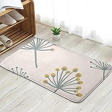 Elegant Flower Branch Pastel Scandinavian Nature Fun Welcome Doormat Personalized Indoor Floor Mats Living Room Bedroom Ba...