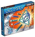Geomag - Classic 252 Color, Constructions Magnétiques et Jeux Educatifs, 6807, Rouge/Orange/Transparente, 40 Pièces