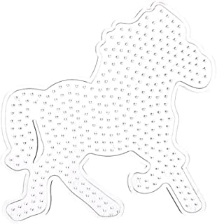 Datingday 1 Pcs Pegboard Horse Shape Model Template for Perler Beads Plastic Stencil