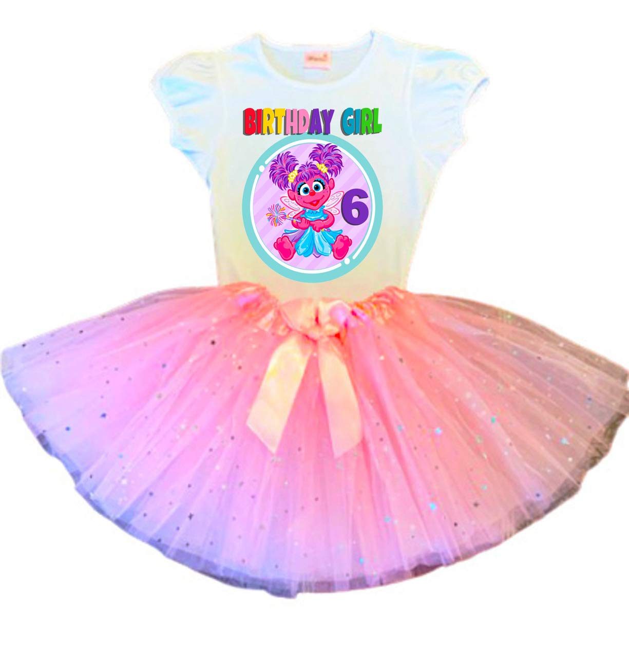 Abby Cadabby Birthday Tutu 6th Party Ou Pink Dress Direct stock discount Time sale