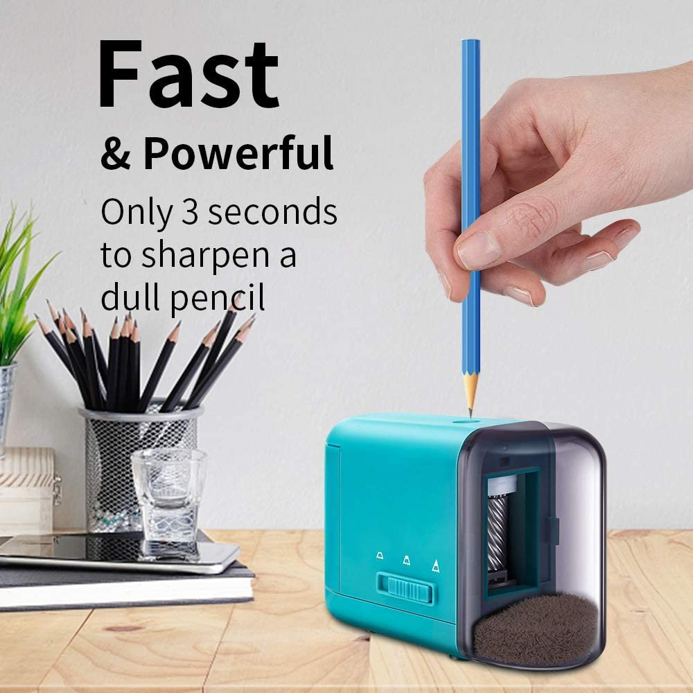 for Kids Artist Battery Operated Pencil Sharpener Students School Fast Sharpen Heavy Duty Automatic Pencil Sharpener for Colored Pencils 3 Settings 6-8mm Office