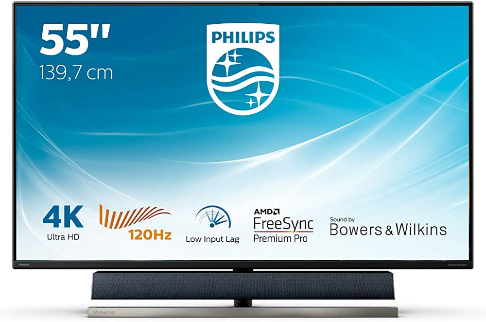 Philips console gaming monitor, freesync 120 hz, 4 ms, audio bowers & wilkins 55 pollici 558M1RY/00