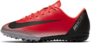 Official Nike Mercurial Vapor Academy CR7 Astro Football Trainers Juniors Red Soccer Shoe