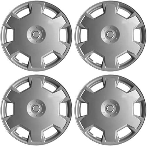 new arrival 15 inch Hubcaps Best for 2009-2014 Nissan Versa - (Set of 4) Wheel Covers 15in Hub Caps Silver Rim online Cover - high quality Car Accessories for 15 inch Wheels - Snap On Hubcap, Auto Tire Replacement Exterior Cap outlet online sale