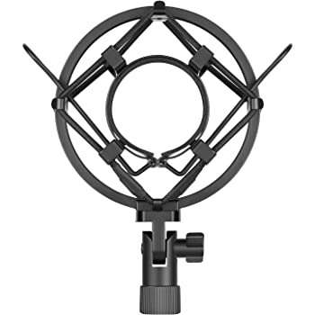 Neewer Universal 45MM Microphone Shock Mount for 43MM-46MM Diameter Condenser Mic (Black)