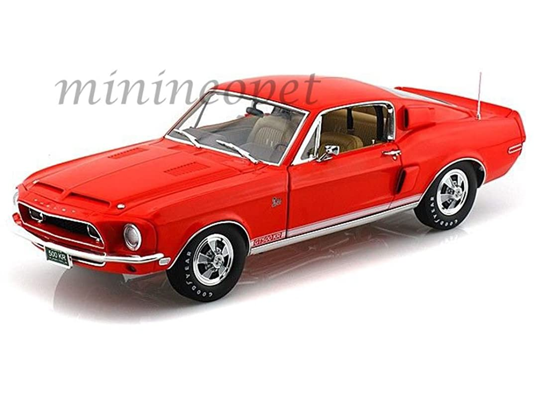 ACME A1801805 1968 SHELBY MUSTANG GT500KR GT 500KR WT 5185 1/18 ORANGE RED ,#G14E6GE4R-GE 4-TEW6W207133
