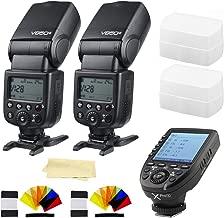 2xGodox V850II GN60 2.4G 1/8000s HSS Camera Flash Speedlight with 2000mAh Li-ion Battery&Godox XPro-S Wireless Flash Trigger Transmitter Compatible for Sony Cameras