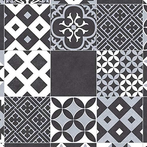 Plaza Amadora Anti Slip Moroccan Victorian Tile Design Vinyl Flooring Lino (Sample 10cm x 10cm Approx)
