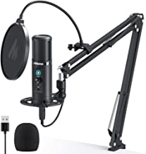USB Microphone Zero Latency Monitoring MAONO AU-PM422 192KHZ/24BIT Professional Cardioid Condenser Mic with Touch Mute But...