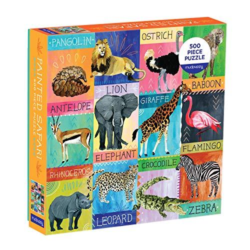 Puzzle - Painted Safari: 500 Piece Family Puzzle