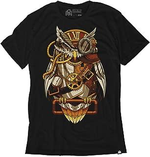 Clockwork Camiseta Steampunk Búho de los Hombres