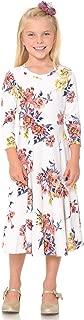 Pastel by Vivienne Honey Vanilla Girls' Princess Seam A-Line Dress Full Skirt Easy Removable Label