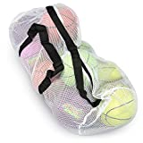 Crown Sporting Goods 39' Mesh Sports Ball Bag with Adjustable Shoulder Strap,...