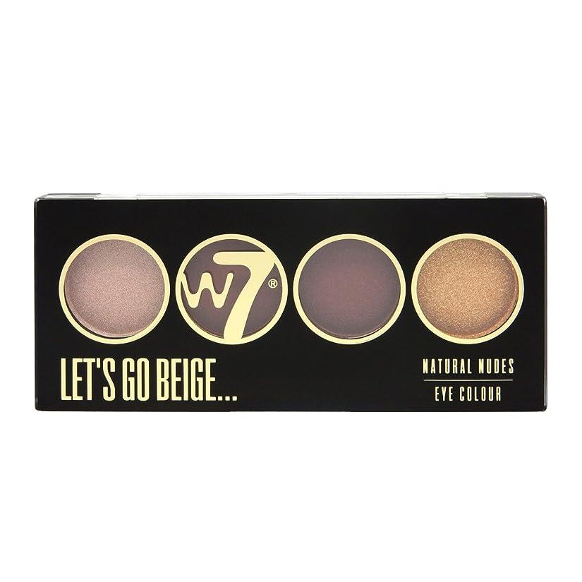 レパートリーかろうじて放映(3 Pack) W7 Let's Go Quad Eye Color Palette - Let's Go Beige (並行輸入品)