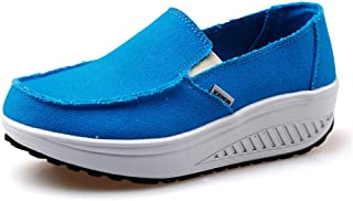 Unparalleled beauty Women's Running Shoes Canvas Breathable Lightweight Athletic Walking Sneaker