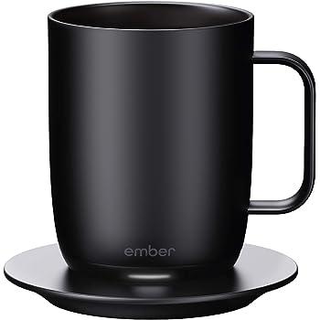 NEW Ember Temperature Control Smart Mug, 14 oz, 1-hr Battery Life, Black - App Controlled Heated Coffee Mug