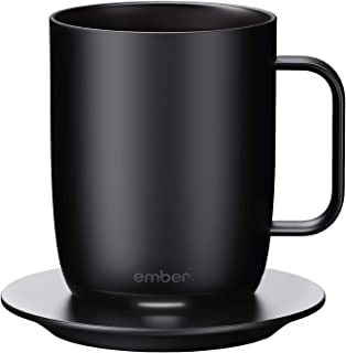 Ember Temperature Control Smart Mug, 14 oz, 1-hr Battery Life, Black - App Controlled Heated Coffee Mug