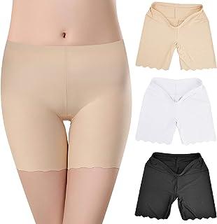 Tuopuda Pantaloncini Sottogonna Donna, Leggings Corti, Pantaloni di Sicurezza 3 Pezzi Shorts Vita Alta Culotte Boxer Mutan...