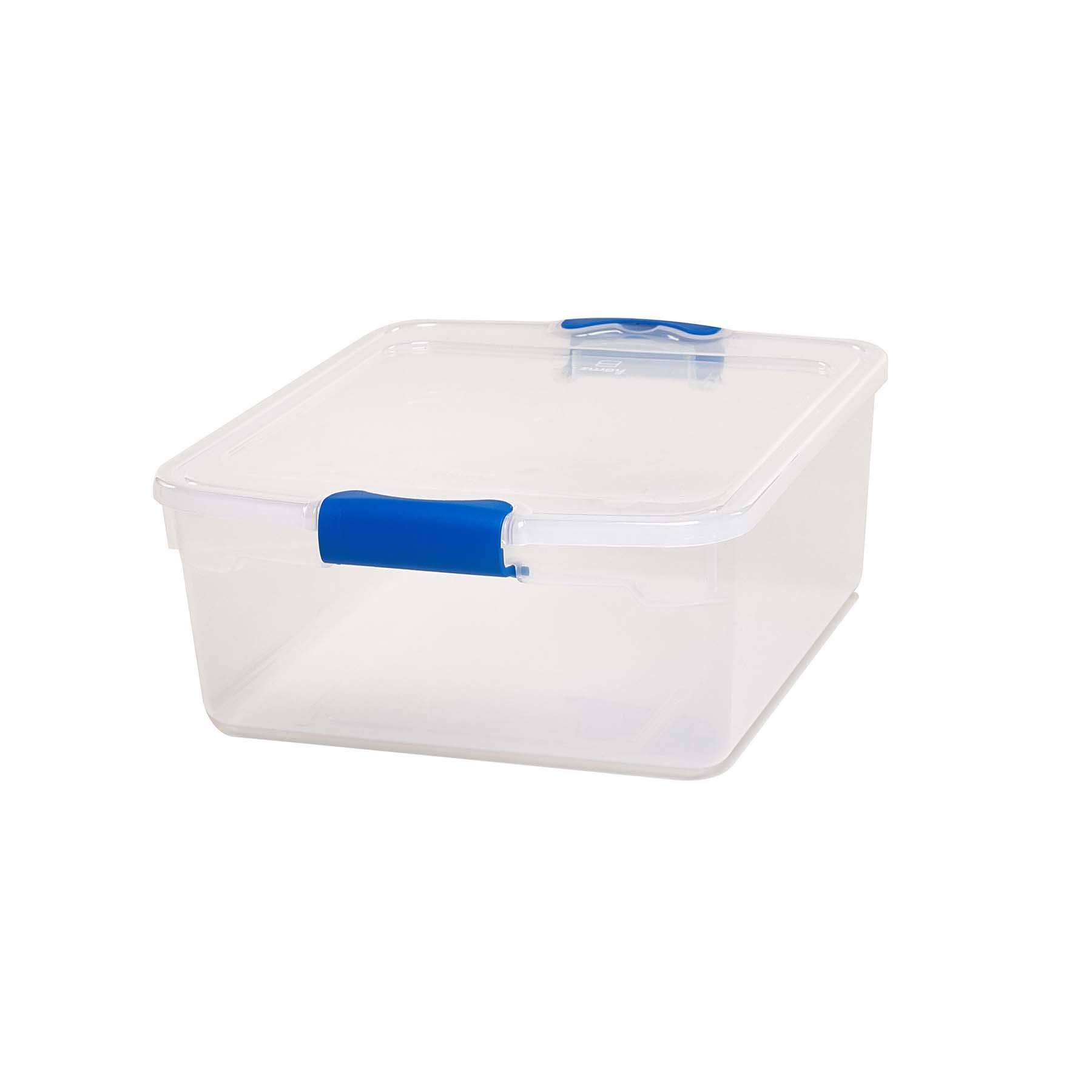 Homz Plastic Storage Stackable Latching