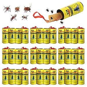 Mosca Atrapasueños Ruedas BESTZY 32PCS Trampa Atrapamoscas para Moscas Trampa Moscas Atrapa Mosquitera Fly Control Trap para Mosquitos - Interiores o Exteriores
