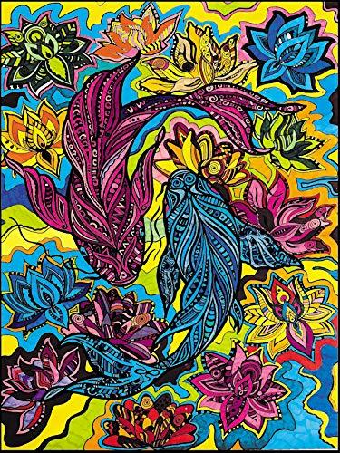 Colorvelvet L130 Disegno 47X35 CM Carpe Ying Yang
