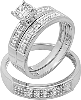 Best white gold wedding sets for her Reviews
