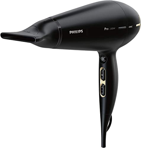 Philips Presitge Pro Hair Dryer with Style and Protect Nozzle, Black, HPS920/00