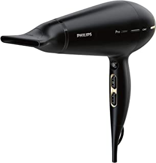 Philips Pro Hair Dryer with Style & Protect Nozzle, Black, HPS920/00