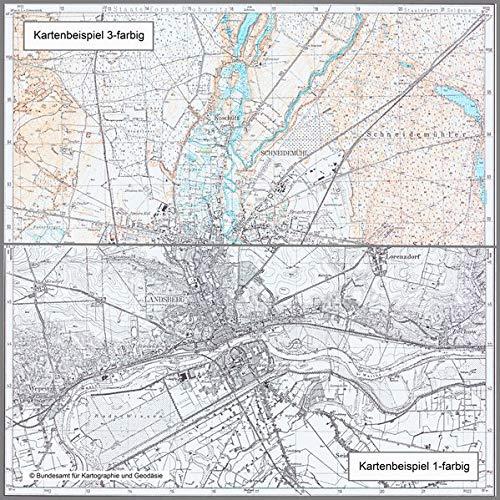 Papau: Topographische Karte 1:25.000 (Meßtischblatt) (Topographische Karte 1:25000 (TK 25) / Nachdruck aus Kartenbeständen des ehemaligen Reichsamtes für Landesaufnahme)