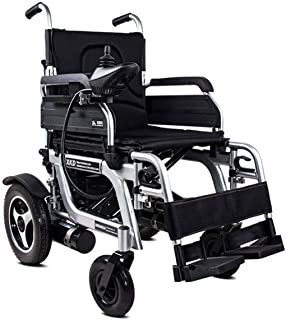 De peso ligero plegable sillas de ruedas eléctrica Silla de ruedas eléctrica plegable (Controlador lado derecho) - Compact Power ayuda a la movilidad sillas de ruedas, velocidad 1-8Km / H, Carga máxim