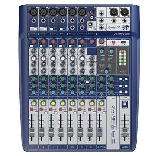 Mesa de mezcla analogica 10 canales con efectos