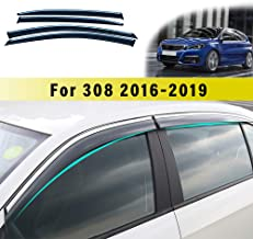 TYP 3V 2015 2016 2017 2018 2019 2020 Acrylic Glass Side Visors Window Deflectors OEMM Set Of 4 Wind Deflectors IN-CHANNEL Type Compatible with SKODA SUPERB MK3 5 DOOR ESTATE//WAGON B8