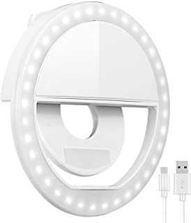 Selfie Ring Light, Oternal Rechargeable Portable Clip-on Selfie Fill Light with 36 LED for iPhone Android Smart Phone Phot...