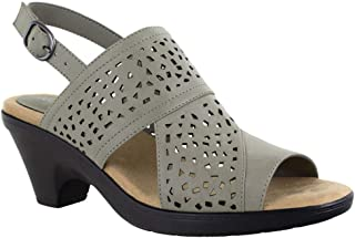 Easy Street Women Heeled Sandal, Grey, 8.5 US medium