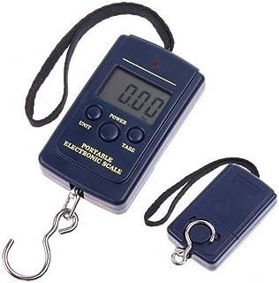 Babysbreath17 Mini Display LCD portátil Digital Colgante Electrónico Escalas de equipaje iluminación Peso equilibrio Romana azul