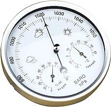 B Baosity Termómetro de Barómetro 132THB Para Estación Meteorológica de 2 Colores - blanco plateado