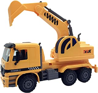 iLifeTech Excavator/Dump Truck Toy, Best Boys Girls Toddler Gift Construction Truck Toys for 3-12 Years Old Kids (Excavator)