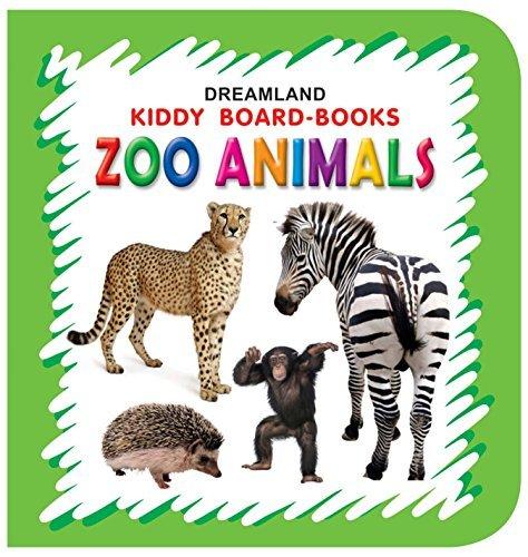 Kiddy Board Book - Zoo Animals (English Edition)