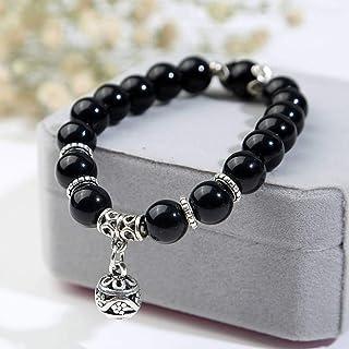 DAIDAISL Natural Opal Beads Bracelets Crystal Fashion Women Bracelet Vintage Stainless Steel Braceletes For Women