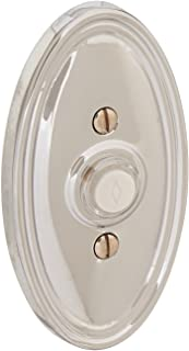 Solid Brass Oval Style Buzzer Button In Polished Chrome. Antique Doorbell Button.