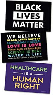 3 Posters or Protest Signs - We Believe, Healthcare is a Human Right, Black Lives Matter Card Stock Prints - Posters or Protest Signs - Buy 1 Get 2 Free (3 Total) - 22