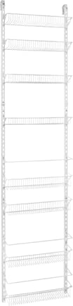 ClosetMaid 1233 Adjustable 8-Tier Wall and Door Rack, 77-Inch Height X 18-Inch Wide