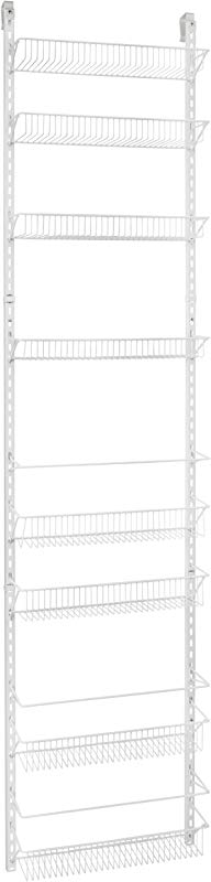 ClosetMaid 1233 Adjustable 8 Tier Wall And Door Rack 77 Inch Height X 18 Inch Wide