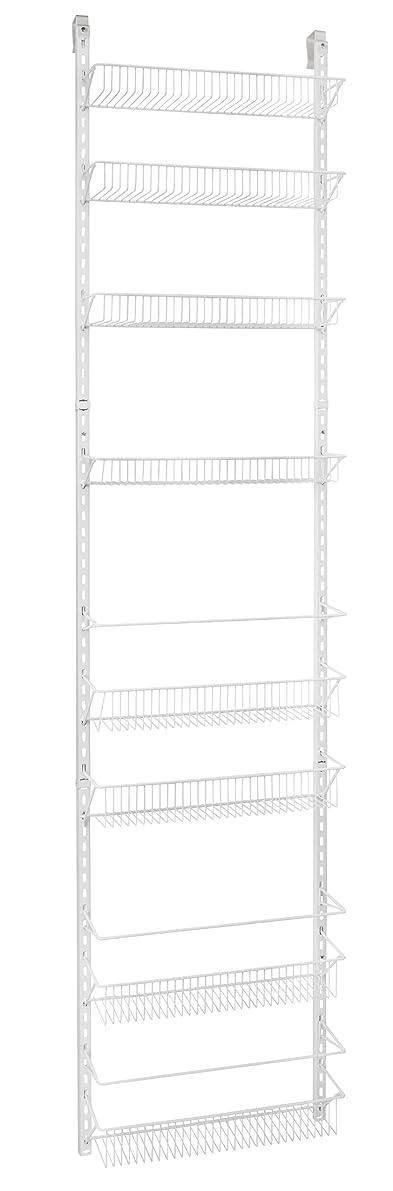 ClosetMaid 1233 Adjustable 8-Tier Wall and Door Rack, 77-Inch Height X 18-Inch Wide