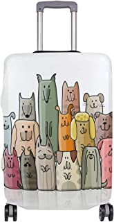 Mydaily Funny Dogs Cartoon Luggage Cover Fits 18-32 Inch Suitcase Spandex Travel Baggage Protector