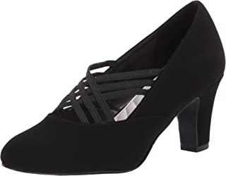 Easy Street womens Pump, Black Suede, 6 X-Wide US