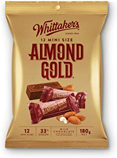 Whittaker's 12 mini size chocolate slab 180g (Made in New Zealand) (Almond Gold)