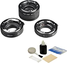 Kenko Auto Extension Tube Set DG (12, 20 & 36mm Tubes) for Nikon Digital and Film Cameras with General Brand Lens Cleaning Kit