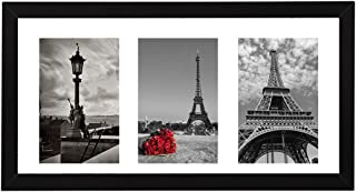 8x16 Black Wooden Picture Frame Photos Instagram Poster Frame and Three 4x6 Photo Frames with Mat