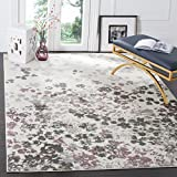 Safavieh Adirondack Collection ADR115L Ivory and Purple Contemporary Floral Area Rug (5'1' x 7'6')